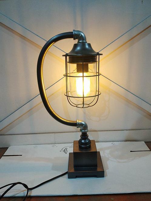 46CM METAL BLACK/SILVER LAMP