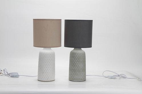 45CM GREY LAMP AND SHADE