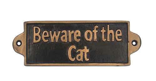BEWARE OF THE WIFE - METAL SIGN