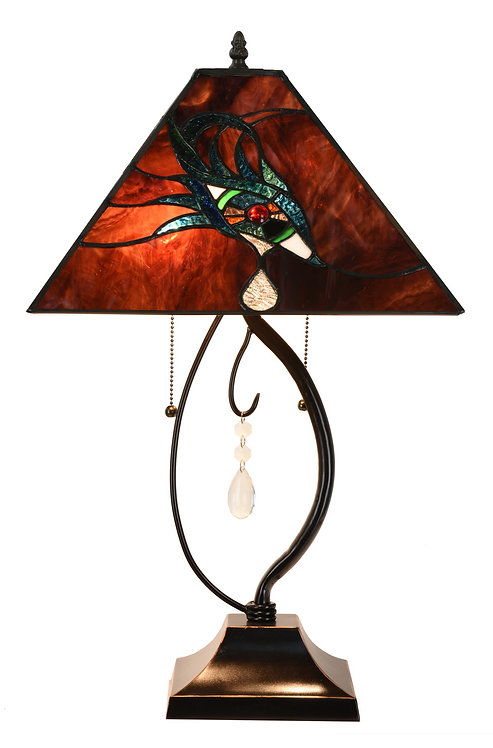 "15"" TIFFANY LAMP 60x38x38cm"