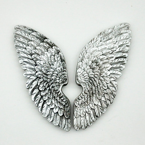 37CM ANTIQUE SILVER LEFT / RIGHT WINGS