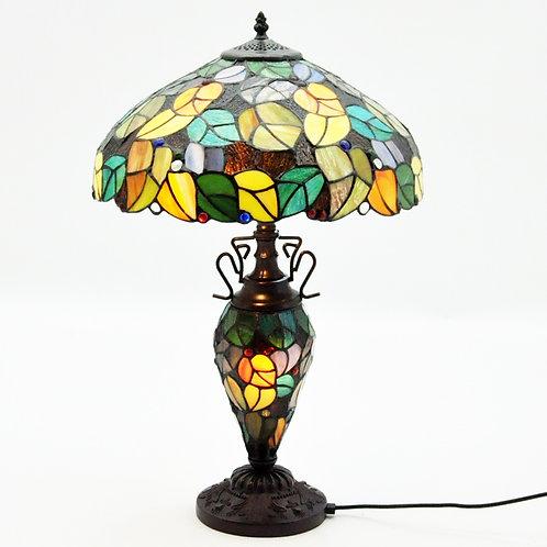 """18"""" SHADE DOUBLE TIFFANY LAMP"""