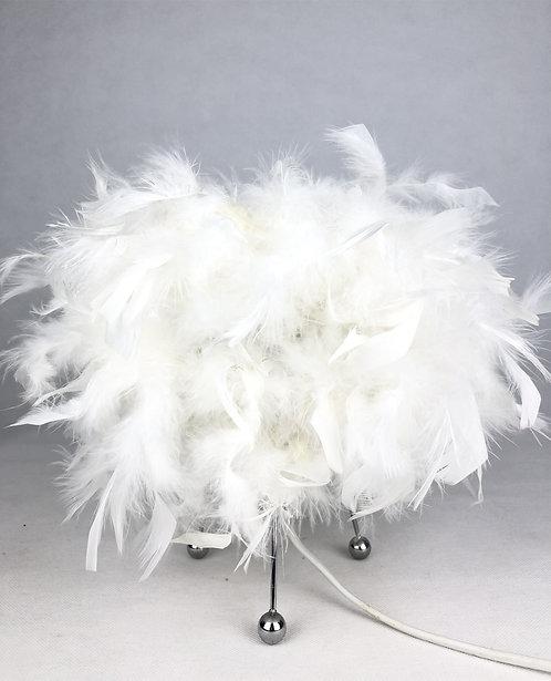 25CM WHITE BEDSIDE TABLE LAMP