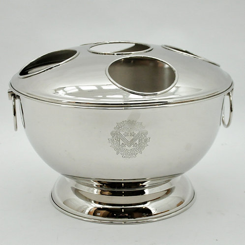 37CM NICKLE PLATED WINE COOLER