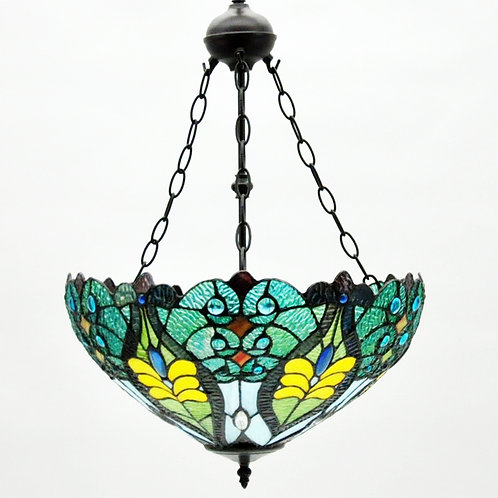 "18"" UP LIGHTER SHADE TIFFANY LAMP"