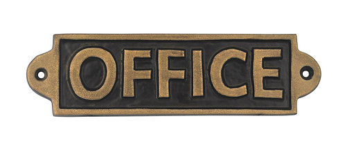 OFFICE - METAL SIGN