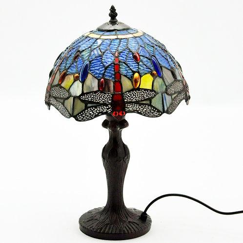 """12"""" SHADE BLUE DRAGONFLY TIFFANY LAMP"""