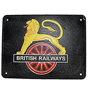 29X 22CM LION BRITISH RAILWAYS SIGN