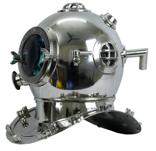 "12"" NICKEL DIVING HELMET"