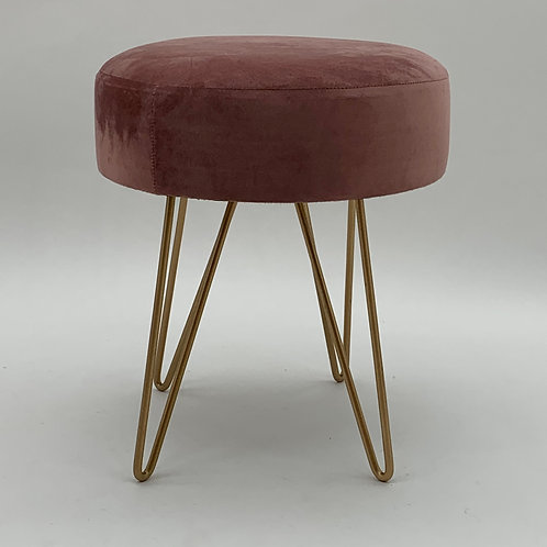 PINK WOODEN STOOL