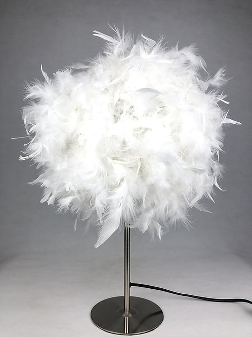 60CM WHITE TABLE LAMP