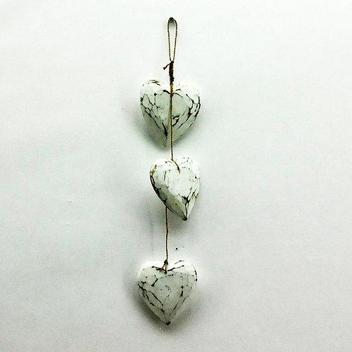 SET 3 CREAM HEARTS