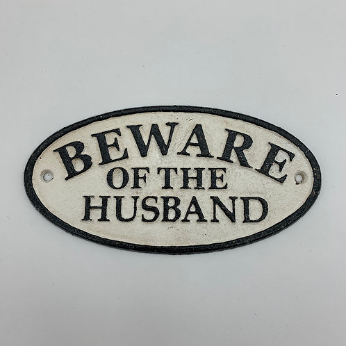18x9CM BEWARE OF THE HUSBAND
