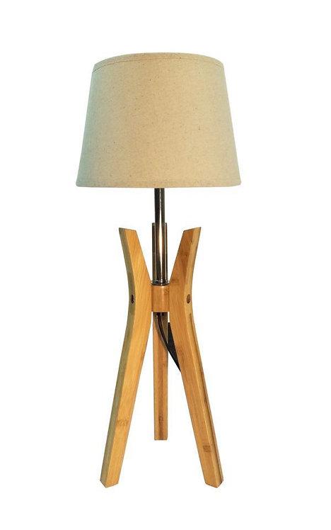 62CM NATURAL TRIPOD LAMP