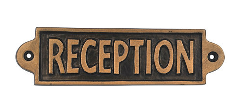 RECEPTION- METAL SIGN