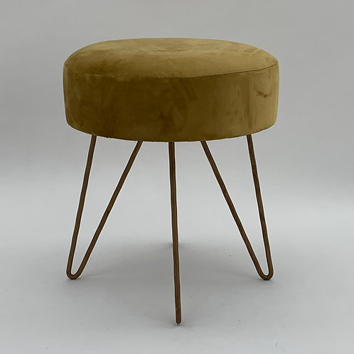 YELLOW WOODEN STOOL