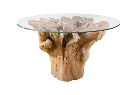 100CM ROOT FLOWER TABLE WAXED