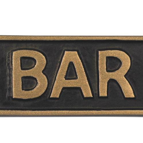 BAR - METAL SIGN