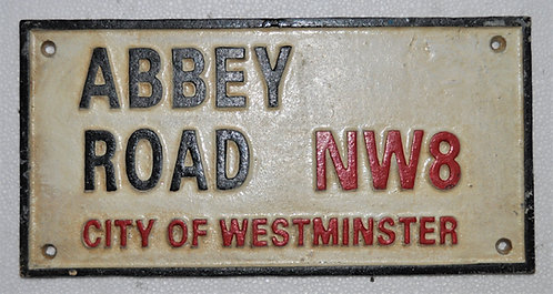 30CM CAST IRON ABBEY ROAD WALL PLAQUE