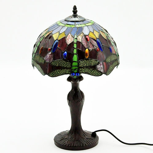 "12"" SHADE RED DRAGONFLY TIFFANY LAMP"