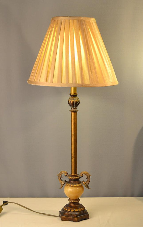 ANTIQUE GOLD BUFFET LAMP