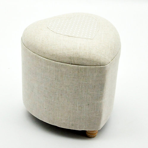 31cm NATURAL JUTE WITH HEART FOOT STOOL