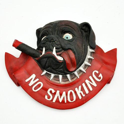 31 X 38CM DOG HEAD NO SMOKING SIGN