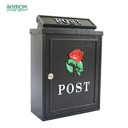 BLACK ROSE ALUMINIUM WALL MOUNTED POST BOX