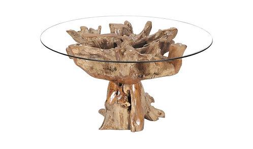 100CM FLOWER DESIGN ROOT TABLE & GLASS