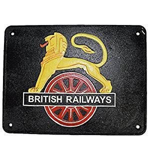 29X 22CM LION BRITISH RAILWAYS SIGN