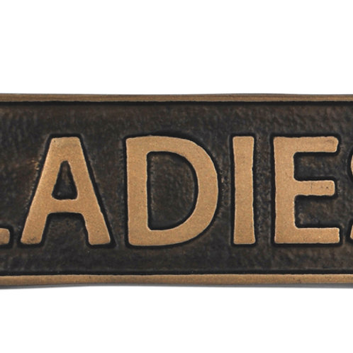 LADIES - METAL SIGN