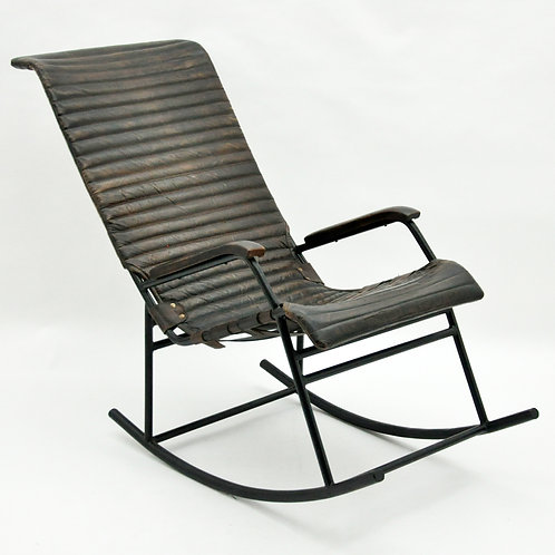 44CM ROCKING LEATHER  CHAIR