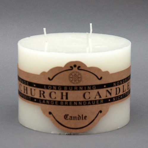 10CM CHURCH CANDLE-BURN TIME 45HRS CTN 8