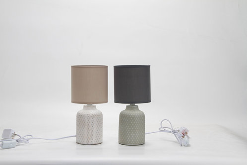 30CM GREY LAMP AND SHADE