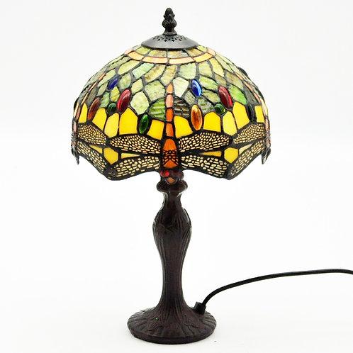 "10"" SHADE  GREEN DRAGONFLY TIFFANY LAMP"