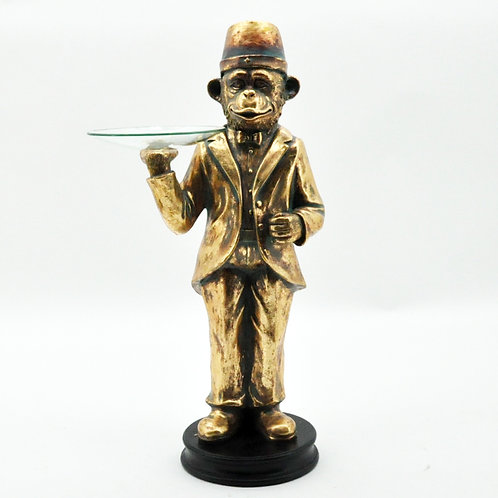 GOLD MONKEY WAITER 85cm