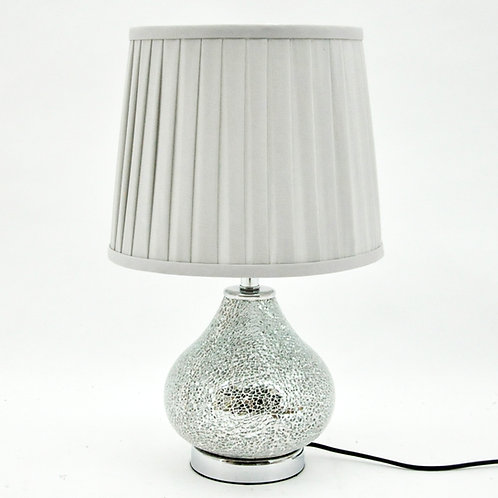 45x28x28CM CRACKLE GLASS LAMP AND SHADE
