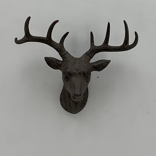 29CM BRONZE DEER HEAD