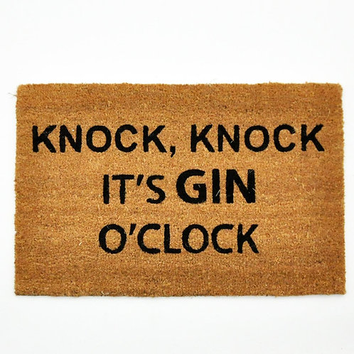 40 X 60 KNOCK ITS GIN OCLOCK DOORMAT