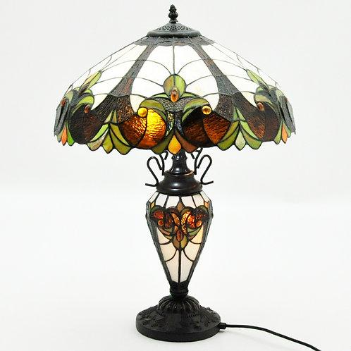 "18""SHADE MULTI COLOUR DOUBLE TIFFANY LAMP"