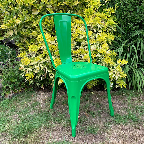 85CM GREEN METAL DINING CHAIR
