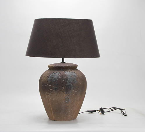 65CM RUSTIC LAMP AND SHADE