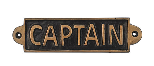 CAPTAIN - METAL SIGN