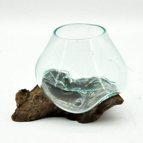 #2 XS TEAK ROOT BLOWN GLASS