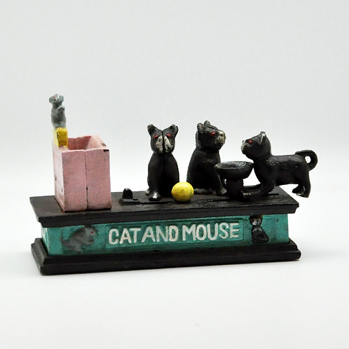 56CM CAT AND MOUSE MONEY BOX