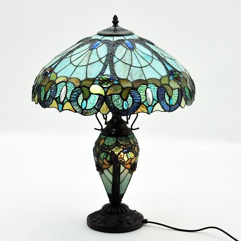 """18 """" SHADE  DOUBLE TIFFANY LAMP"""