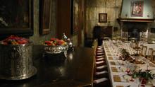 Reconstitution d'un  Repas des Humanistes du XVI dans la Maison d'Erasme