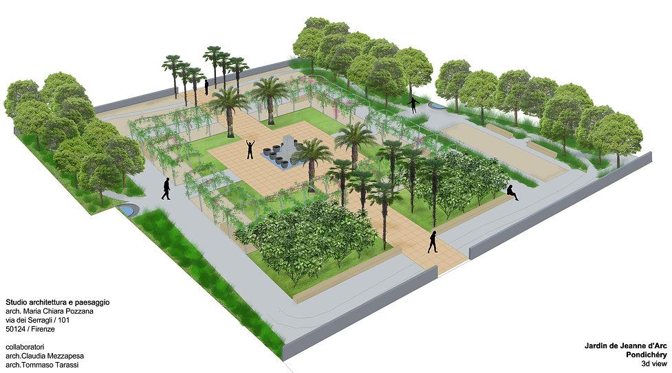 plan du jardin de Jeanne d'Arc -Pondiché
