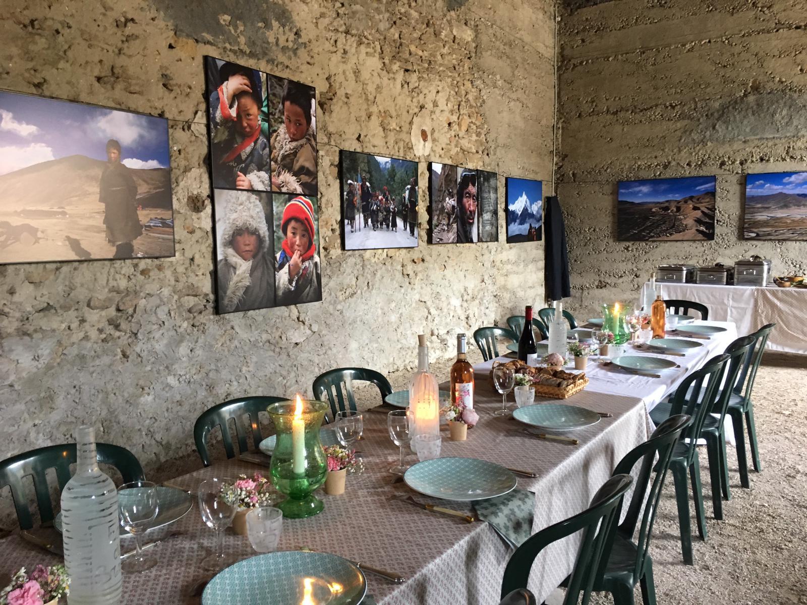 dejeuner et exposition de Priscilla Telm