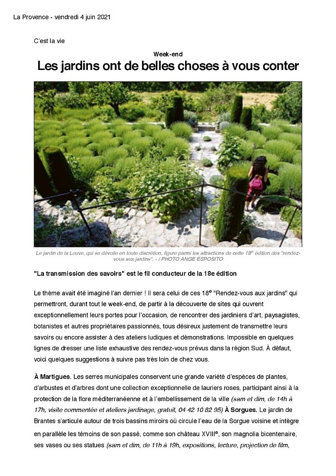 La provence 4 juin RDV aux Jardins Page culture -page-001.jpg